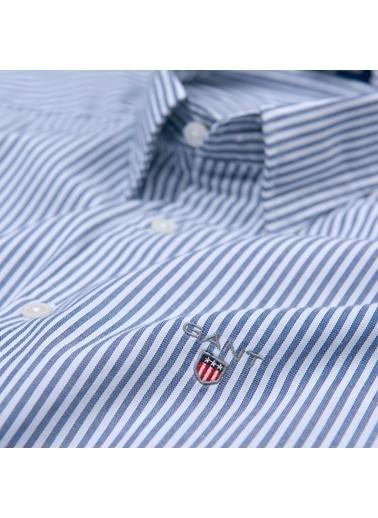 Çizgili Oxford Yaka Uzun Kollu Gömlek-Gant